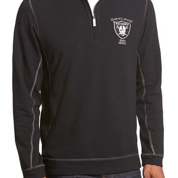 Men's Tommy Bahama 'Ben & Terry - Oakland Raiders' NFL Quarter Zip Pullover,