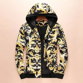 One-nice™ Versace Women Men Hoodie Long Sleeve Cardigan Jacket Coat I-A00FS-GJ