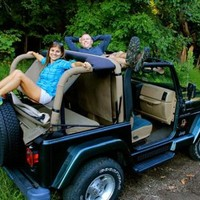 All Things Jeep - Jammock 2.0 Jeep Roll Bar Hammock for Jeep Wrangler 1987-2016 in Black