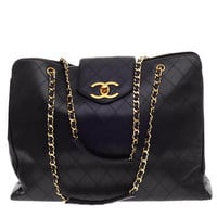 Chanel Supermodel Weekender Quilted Leather Jumbo