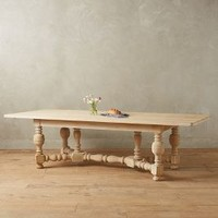 Sculpted Oak Dining Table by Anthropologie