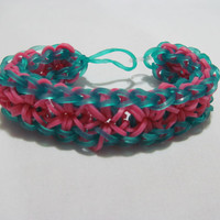 Starburst Rainbow Loom Bracelet - Womens jewelry Kids Bracelet Loom Bands Loom Bracelet Pink Rainbow Loom Rainbow Loom Bands Fashion