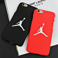 7 &7 Plus  Newest Flying Man Michael Jordan Frosted PC Hard Case For iphone 6 6s Plus 5 5s SE Back Covers Cases Fundas Capa