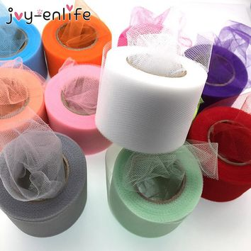 JOY-ENLIFE 25yard*5cm Colorful Crystal Tulle Roll DIY Girls Tutu Skirt Gift Wedding Party Decor Baby Shower Decor Supplies