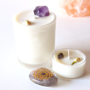 Crown Chakra Tea Light Soy Candle