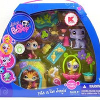 Littlest Pet Shop Exclusive Figures Themed Playset Pets In The Jungle