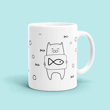 Funny Coffee Mug For Girlfriend Boyfriend Wife Husband Cat Animal Love Fun Anniversary Birthday Bday Gifts Quote Typography Mugs Her Him