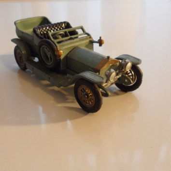 Vintage Lesney Scale Model 1907 Touring Rolls Royce Silver Ghost /Die Cast Toy Car/Models of Yesteryear/England /By Lesney/Matchbox Cars