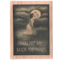Moon Wood Card