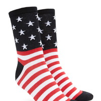 American Flag Crew Socks