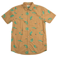 SURF PRINT SHORT SLEEVE BUTTON UP