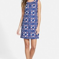 Women's Vineyard Vines 'Whale Tail' Embroidered Shift Dress
