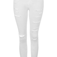 MOTO Super Ripped Jamie Jeans - White