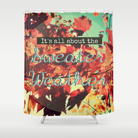 Sweater Weather Shower Curtain by RDelean