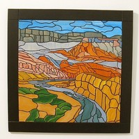Southwest Canyons, Wood Wall Art, Sculpture Landscape