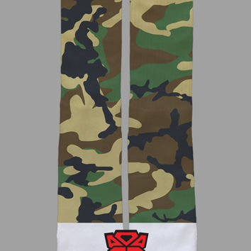Green Camo - Custom Socks - Socktimus Prime