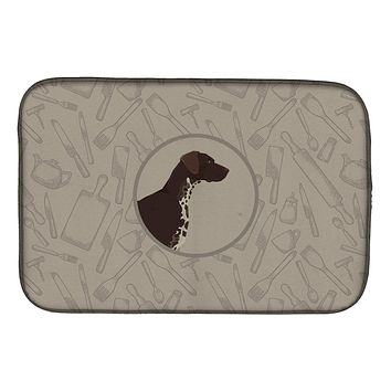German Shorthaired Pointer In the Kitchen Dish Drying Mat CK2188DDM