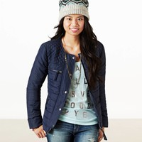 AEO Women's Quilted Puffer (Navy)