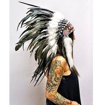White Native Headdress