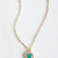 Pastel Delicate Drop Necklace in Mint by ModCloth