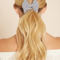 Striped Bow Scrunchie | Forever 21 - 1000223539