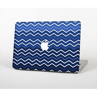 The Blue Gradient Layered Chevron Skin Set for the Apple MacBook Air 11""