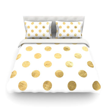 """KESS Original """"Scattered Gold"""" Featherweight Duvet Cover"""