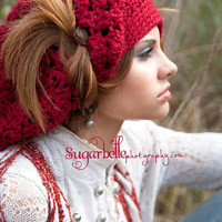 Red Slouchy Hat Teen Fashion Spring Fashion Womens Hats Chunky Crochet Hat