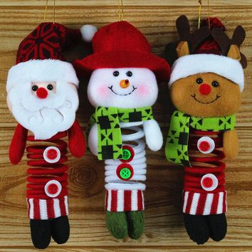 Christmas Pendant Hanging Craft Sewing Ornaments Doll Swing Spring Feet Xmas Holiday Decoration