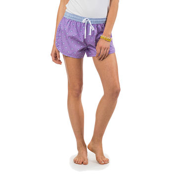 Women's Skipjack Lounge Short in Lilac Purple by Southern Tide
