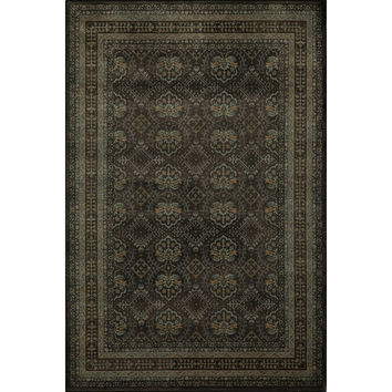 Mirage Diamonds Charcoal Power-Loomed Rug (2' x 3') | Overstock.com Shopping - The Best Deals on 5x8 - 6x9 Rugs