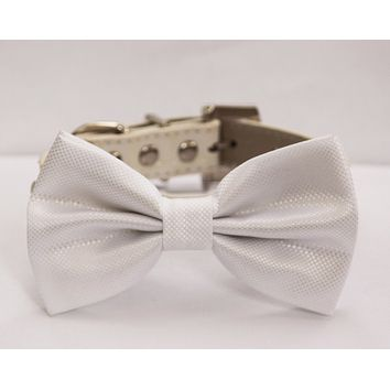 White Wedding Dog Collar Bow tie, pet wedding ideas