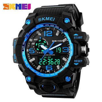 Sports Watches Men Digital LED Waterproof Military Army Watch Alarm Wristwatches