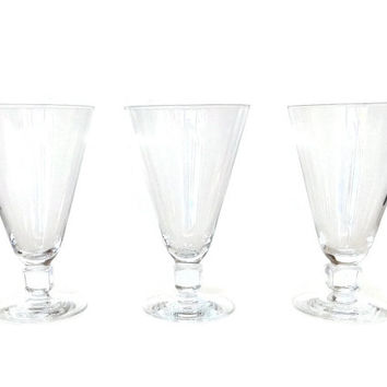 Kosta Boda, Swedish Water Glasses, Kuba, Elis Bergh, Cube Stem