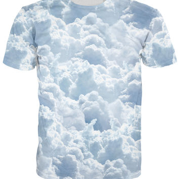 Clouds All-Over Print Sublimated Sky Blue T-Shirt