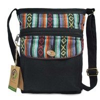 Mato Boho Black Cross body Purse with Bohemian Tribal Aztec Pattern Day-First™