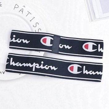 Kalete Champion Sports Casual Letter Simple Hair Band Of Yoga And Fitness Headband Headband With Headbands