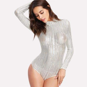 METALLIC BODYSUIT