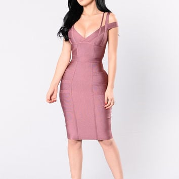 Lansa Bandage Dress - Dark Mauve