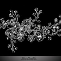 Helen Floral Spray Hair Clip | Swarovski Crystal