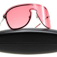 New Versace Women's Sunglasses VE 2180 Red 100084 VE2180 44mm Authentic