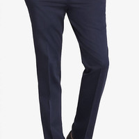 Slim Photographer Blue Cotton Sateen Suit Pant from EXPRESS