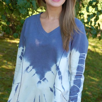 Fall Sky Tie Dye Top