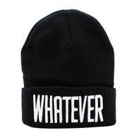 New Fashion Winter Black Winter Whatever Hiphop Beanie Hat And Snapback Men And Women Knitted Cap Female Skullies
