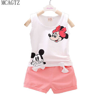 Minnie Mouse Set Cotton Short + Pants 2pcs Baby Clothing Today's Sale