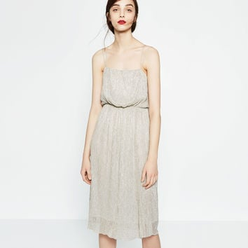 SHIMMER FABRIC DRESS - View all-WOMAN-NEW IN | ZARA United Kingdom