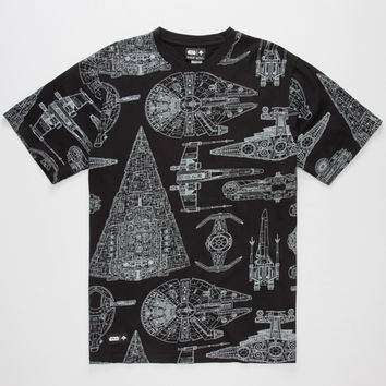 Lrg X Star Wars The Blueprint Mens T-Shirt Black  In Sizes