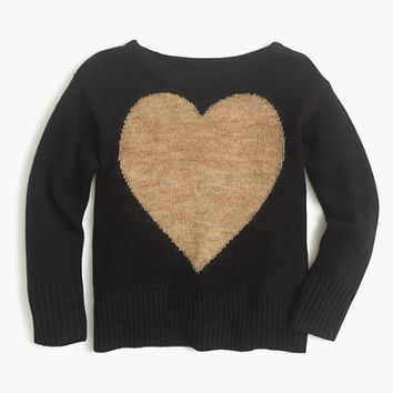 crewcuts Girls Wool Heart Popover Sweater