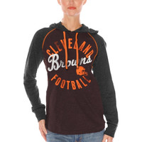 Cleveland Browns Women's Play Clock Pullover Hoodie – Brown