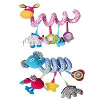 Baby Bed Bells Toys Soft Baby Rattles Music Box Giraffe Crib Hanging Bed Bell Hand bells Educational Toys Dolls For Children